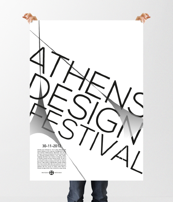 This is a college project for the course of typography we were asked to design a black and white poster to promote an event of our choice